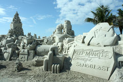 Sand Sculpture Competition Royalty Free Stock Photography