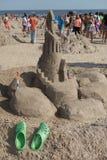 Sand sculpture on the Coney Island Beach during the 27th Annual Coney Island Sand Sculpting Contest Stock Photos