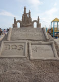 Sand sculpture on the Coney Island Beach during the 27th Annual Coney Island Sand Sculpting Contest Stock Image