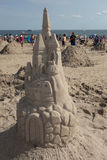 Sand sculpture on the Coney Island Beach during the 27th Annual Coney Island Sand Sculpting Contest Royalty Free Stock Photography