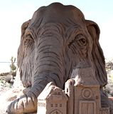 Sand Sculpture at the Elephant Butte Lake State Park in New Mexico. This is a sand sculpture at Elephant Butte Lake State Park in New Mexico.  It shows an royalty free stock image