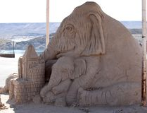 Sand Sculpture at the Elephant Butte Lake State Park in New Mexico. This is a sand sculpture at Elephant Butte Lake State Park in New Mexico. It shows an royalty free stock images