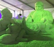 Sand Sculpture Fairy Tale Stock Photo