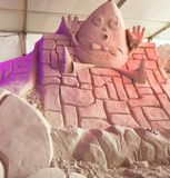 Sand Sculpture Fairy Tale Royalty Free Stock Images