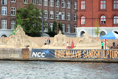 Sand sculpture festival in Copenhagen Stock Photo