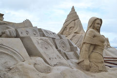 Sand Sculpture Festival in Lappeenranta Stock Photo