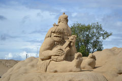 Sand Sculpture Festival in Lappeenranta Royalty Free Stock Image