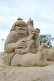Sand Sculpture Festival in Lappeenranta Royalty Free Stock Photo