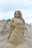 Sand Sculpture Festival in Lappeenranta Royalty Free Stock Images