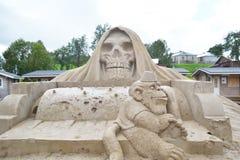 Sand Sculpture Festival in Lappeenranta Stock Photos
