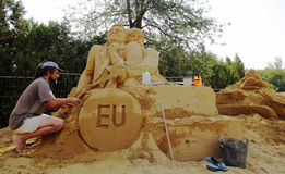 Sand Sculpture Festival Royalty Free Stock Image