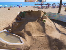 Sand Sculpture in Fuengirola on the Costa Del Sol Spain Stock Photos