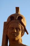 Sand sculpture God of War Stock Photo