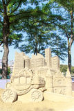 Sand Sculpture of The Hague city Stock Image