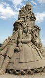 Sand sculpture. Of Hansel and Gretel in the harbour of Blauwestad Havenkwartier) The Netherlands Royalty Free Stock Image