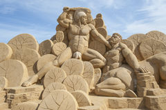 Sand sculpture of hercules Stock Images