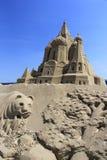 Sand sculpture of  kremlin palace Royalty Free Stock Photo