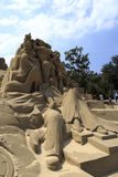 Sand sculpture of love stories Royalty Free Stock Photos