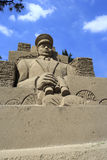 Sand sculpture of marshal zhukov Royalty Free Stock Photography
