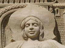 Sand sculpture Princess Royalty Free Stock Image