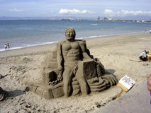 Sand Sculpture Stock Images