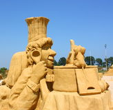 Sand sculpture of Ratatouille movie Royalty Free Stock Image