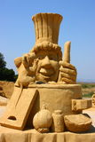 Sand sculpture of Ratatouille movie Royalty Free Stock Photography