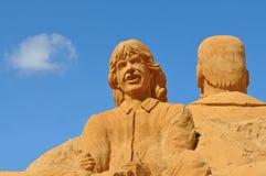 Sand Sculpture, Sand, Sculpture Royalty Free Stock Photo