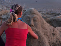 Sand sculpture Royalty Free Stock Image