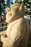 Sand sculpture of Shrek Stock Photo