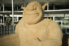 Sand sculpture of Shrek Royalty Free Stock Image