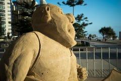 Sand sculpture of Shrek Royalty Free Stock Photos