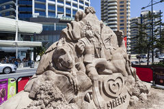 Sand Sculpture Stock Image