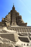 Sand sculpture of taipei 101 building Stock Images