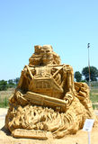 Sand sculpture from The Terminator Royalty Free Stock Photo