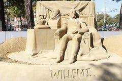 Sand Sculpture of William 1 stock images