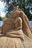 Sand sculpture Woman at festival White Nights Royalty Free Stock Photo
