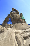Sand sculpture of women of huian county Stock Photos