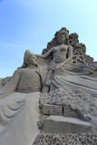 Sand sculpture of yangyuhuan and tangxuanzong Stock Images