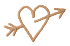 Sand sculptured Valentine Cupid sign Stock Image