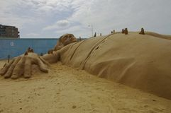Sand Sculptures Gullivers travels Stock Image