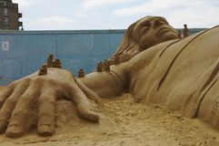 Sand Sculptures Gullivers travels Stock Photography