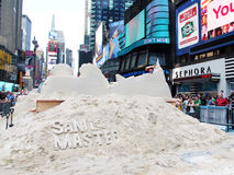 Sand sculpturing in times square. Stock Images