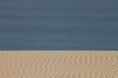 Sand and Sea. Where sand meets with ocean royalty free stock photos