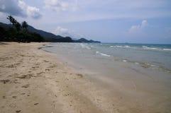 Sand sea beach hazy sky Royalty Free Stock Photo