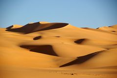 Sand sea in Libya Stock Images