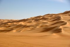Sand sea, Libya Stock Images