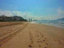 Sand and Sea. Mazatlan Beach, Mexico Royalty Free Stock Image
