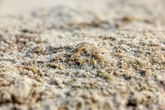 Sand And Sea. In Rayong Thailand Royalty Free Stock Image