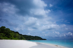 Sand and sea in the south of thailand.  Royalty Free Stock Photos